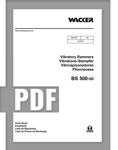 Parts Manual | BS500oi - Item: 0009165, REV100 | Free Download