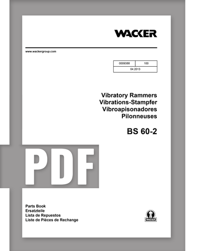 Parts Manual   BS60-2 - Item: 0009388, REV100   Free Download