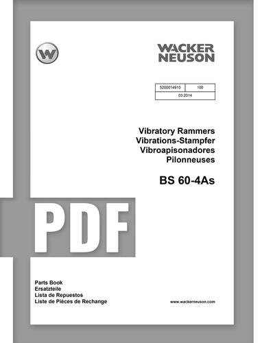 Parts Manual   BS60-4AS - Item: 5200014910, REV100   Free Download