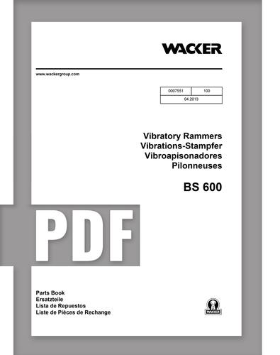 Parts Manual   BS600 - Item: 0007551, REV100   Free Download