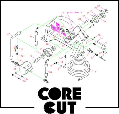 "1/2"" Nipple, Q.D. Flat Face Style | Core Cut CC21 | 3200105"