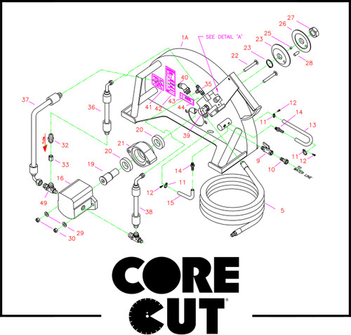 Motor & Blade Mounting Parts | Core Cut CC21 | 6000008