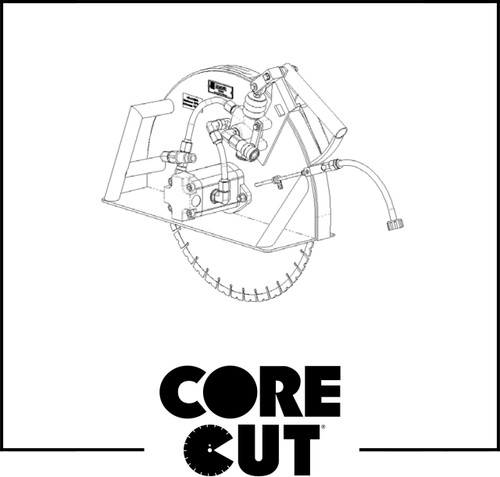 Rotation Label | Core Cut CCW Hydraulic Saw | 1800865