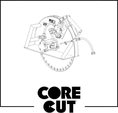 "Push-Connect Fitting, 1/4"" Tube x 1/8""MPT | Core Cut CW Hydraulic Saw | 2506350"