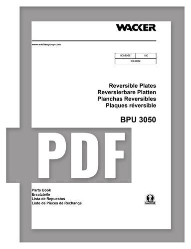 Parts Manual   BPU3050 - Item: 0008955, REV100   Free Download