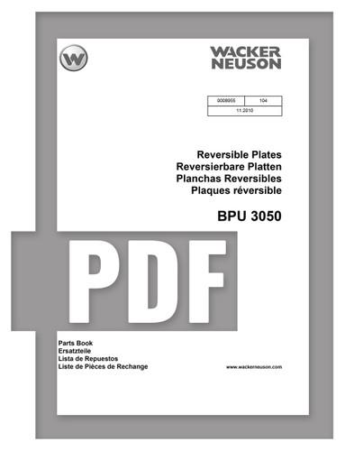 Parts Manual   BPU3050 - Item: 0008955, REV104   Free Download