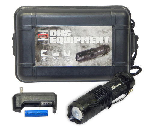 DHS Tactical Rechargeable Work Light | Heavy Duty Flashlight