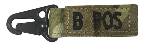Multicam OCP Blood Type Tag For B Positive