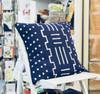 Throw/Sofa Pillows | Indigo Blue | Mudcloth Design - 18 by 18 Inches