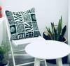 Throw/Sofa Pillows | Green | Mudcloth Design - 20 inches