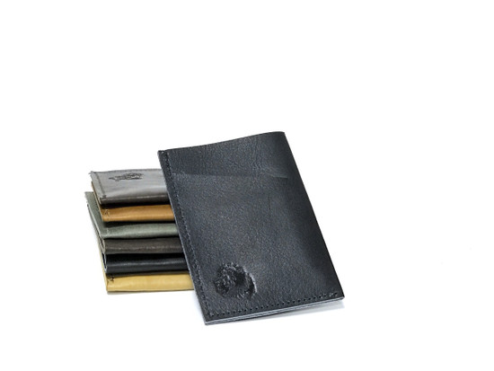 Genuine Leather Handmade Card Holder | Men's Wallet - Dark Blue