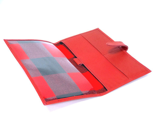 Genuine Leather Handmade Travel Wallet - Red