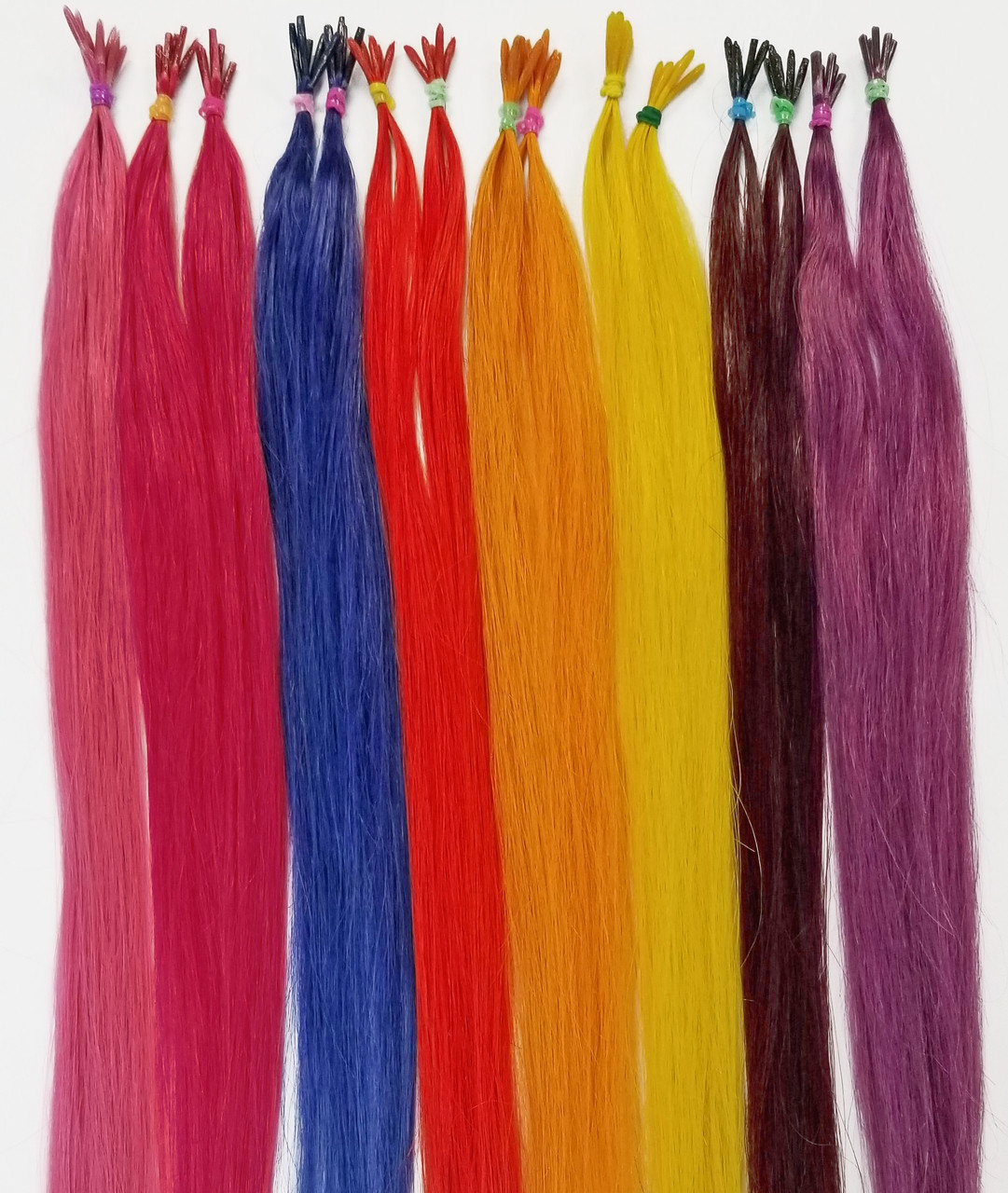 18 Colored Hair Extensions I Tip Fantasy Color Hair Extensions