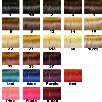 Hair Extension Color Chart | Vision Hair Extensions