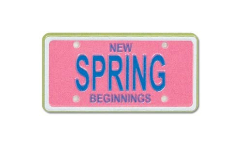 Spring New Beginnings Scrap Plate Embellishment by Karen Foster Design