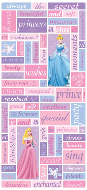 Disney Princess Collection Princess Phrases Scrapbook Sticker Sheet by Sandylion