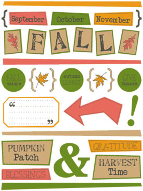 Fall FreeStyle Sticker Sheet by SRM Press