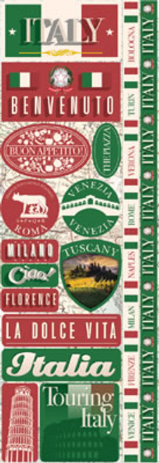 Signature Series Collection Italy Cardstock Stickers by Reminisce