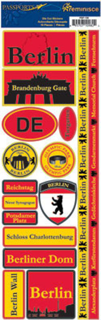 Passports Collection Berlin Germany Die Cut Stickers by Reminisce