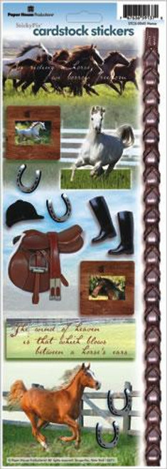 Horse Cardstock Sticker Sheet by Paper House Productions