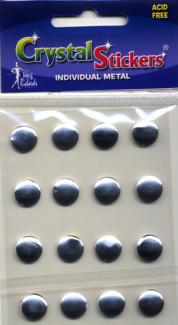 Silver 10mm Nailheads Metal Stickers by Mark Richards USA