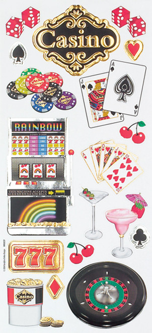 Las Vegas Collection Casino Embossed Sticker Sheet by Sandylion
