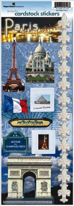 Paris, France Cardstock Sticker by Paper House Productions