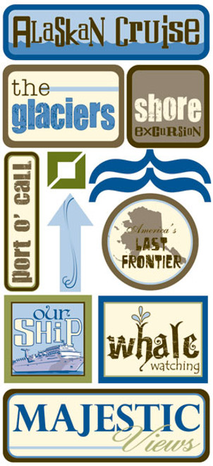 Outdoor Collection Alaskan Cruise Stickers by Scrapbook Customs