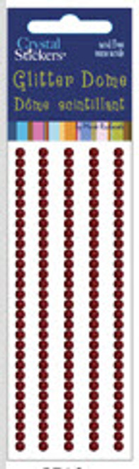 Red 3mm Glitter Dome Stickers by Mark Richards USA