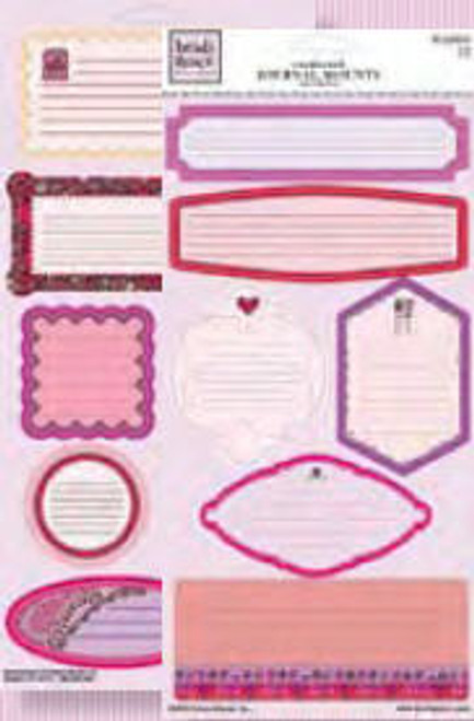 Valentine's Day Collection Cardstock Journal Mounts Stickers by Heidi Grace
