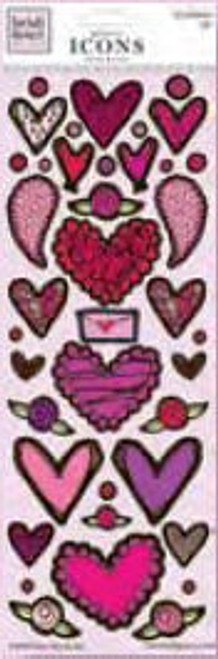 Valentine's Day Collection Glitter Icons Stickers by Heidi Grace