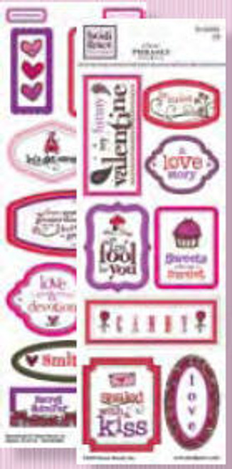 Valentine's Day Collection Clear Phrases Stickers by Heidi Grace