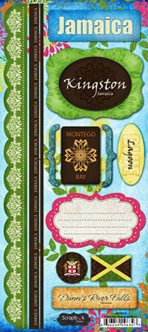Jamaica Paradise Collection Cardstock Sticker Sheet by Scrapbook Customs