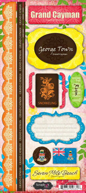 Paradise Collection Grand Cayman Cardstock Sticker Sheet by Scrapbook Customs
