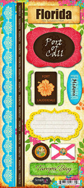 Paradise Collection Florida Cardstock Sticker Sheet by Scrapbook Customs