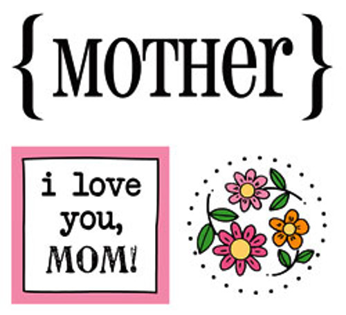 Mother Quick Cards Stickers by SRM Press - Pkg. of 2