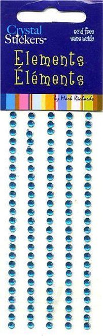 Teal Small Round Crystal Stickers by Mark Richards USA