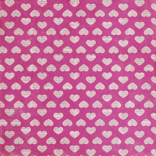 Hey Mom! Collection Sweetheart 12 x 12 Double-Sided Scrapbook Paper by Simple Stories