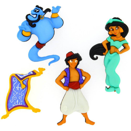 Disney Dress It Up Collection Aladdin Scrapbook Button Embellishments by Jesse James Buttons