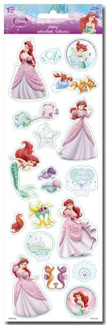 Disney The Little Mermaid Collection Ariel Glittered 4 x 12 Scrapbook Sticker Sheet by Sandylion