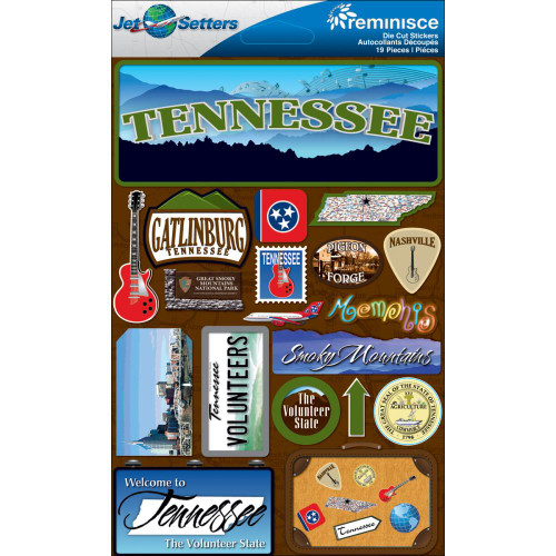 Jet Setters 2 Collection Tennessee 5 x 7 Scrapbook Embellishment by Reminisce