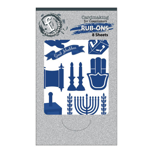 Jewish Cardmaking Rub-On Sheets - Pkg. of 8