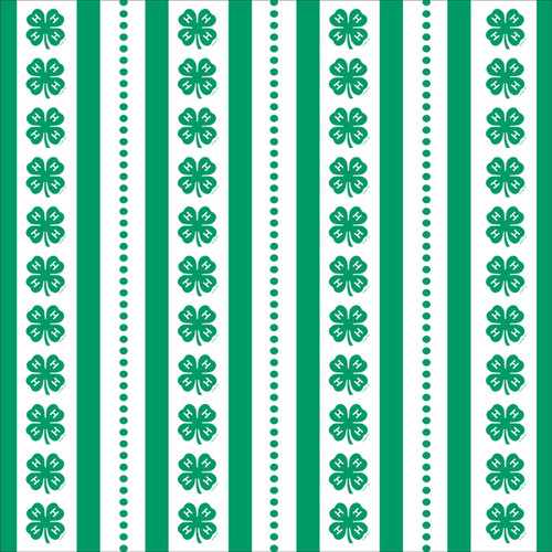 4-H Collection Clover Strip Dot 12 x 12 Scrapbook Paper by It Takes Two
