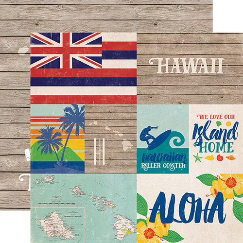 Stateside Collection Hawaii 12 x 12 Double-Sided Scrapbook Paper by Echo Park Paper