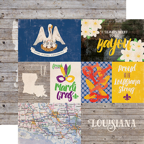 Stateside Collection Louisiana 12 x 12 Double-Sided Scrapbook Paper by Echo Park Paper