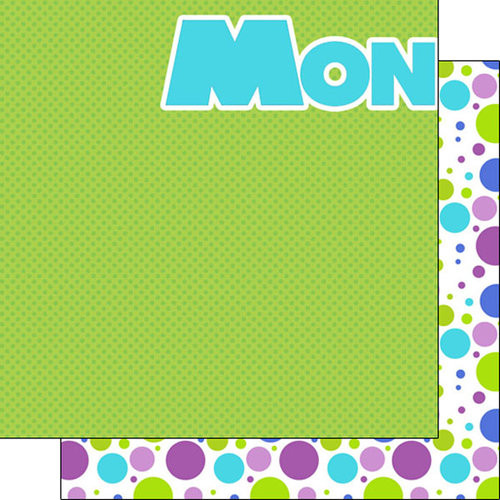 Disneyana Monsters Collection Monster Left 12 x 12 Double-Sided Scrapbook Paper by Scrapbook Customs