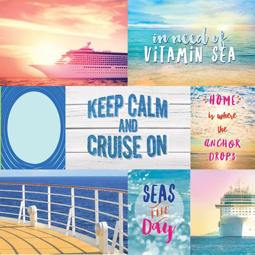 Paradise Found Collection Cruise Tags 12 x 12 Double-Sided Scrapbook by Paper House Productions
