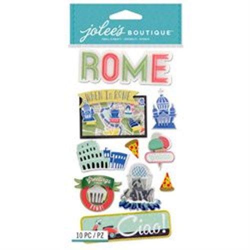 Destination Collection Rome, Italy Large Scrapbook Embellishment by Jolee's Boutique