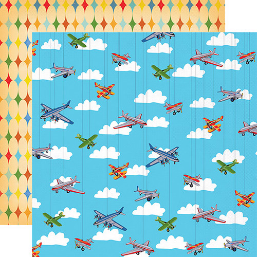 Toy Box Collection Airplanes Soaring 12x12 Double-Sided Paper by Carta Bella
