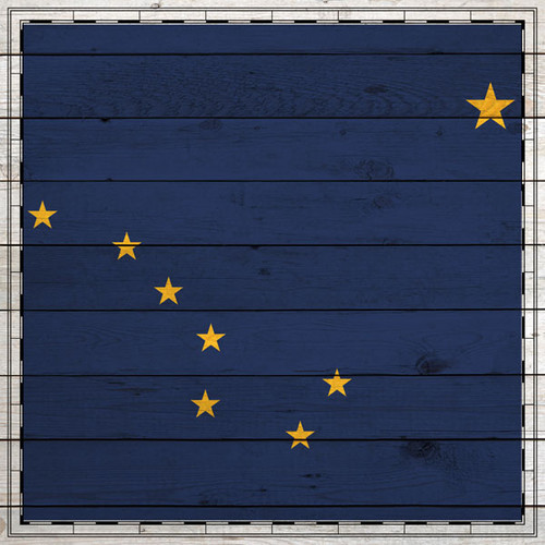 Sightseeing Collection Alaska Flag 12 x 12 Scrapbook Paper by Scrapbook Customs